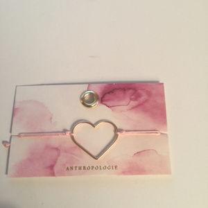 Anthropologie Heart Bracelet